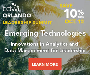 TDWI Orlando 2018 Leadership Summit Discount Register Early Bird